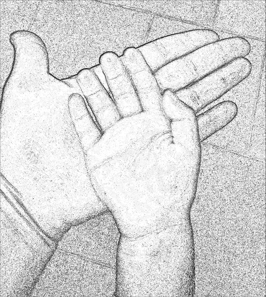 Photo de nos mains